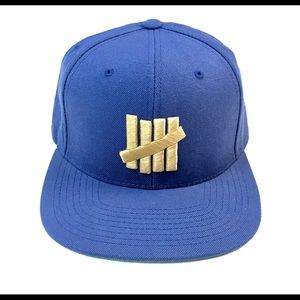 UNDEFEATED SNAPBACK HAT UNDFTD 5 STRIKES BLUE GOLD